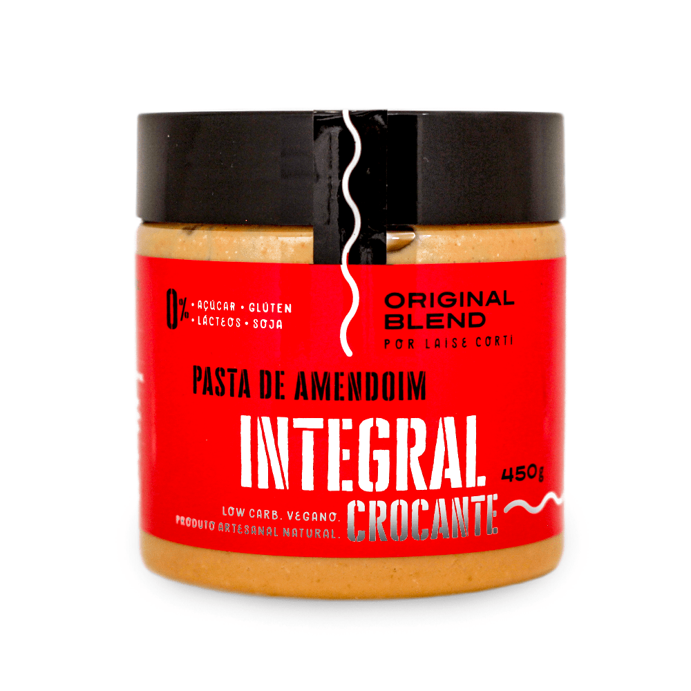Pasta de Amendoim Integral Crocante