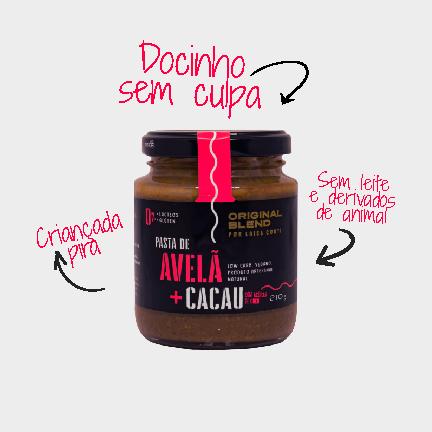 Pasta de Avelã + Cacau com Açucar de Coco