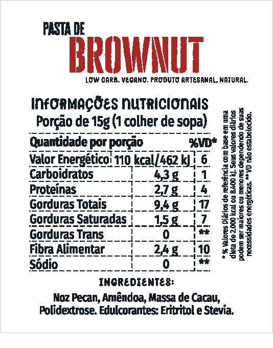 Pasta de Brownut 500g