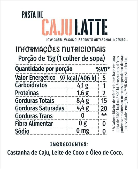 Pasta de Caju Latte