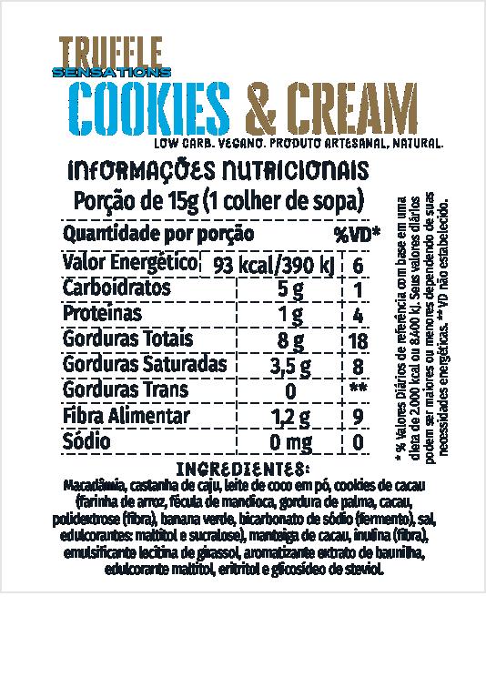 Truffle Cookies & Cream 500g