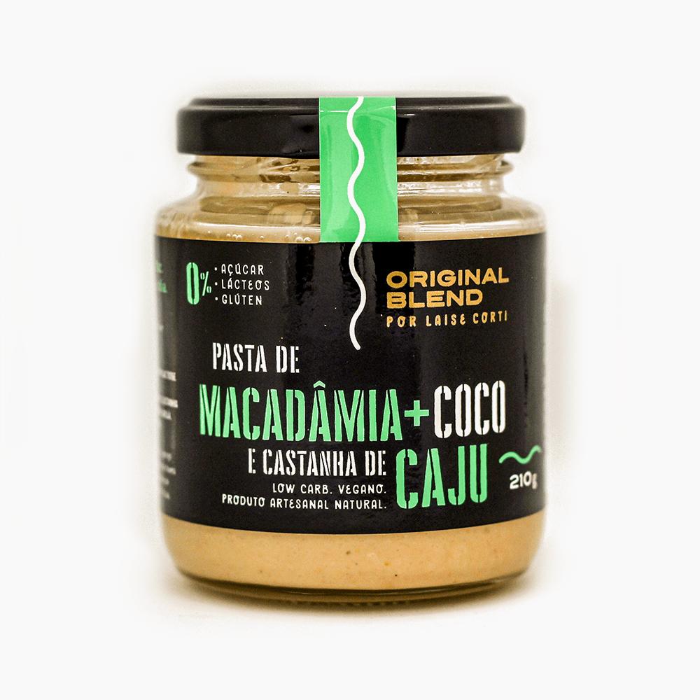 Pasta de Macadâmia + Coco e Castanha de Caju 210g