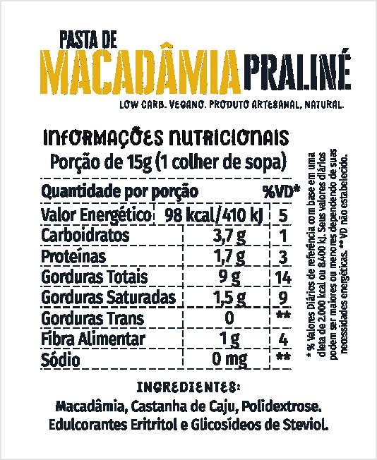 Pasta de Macadâmia Praliné 210g
