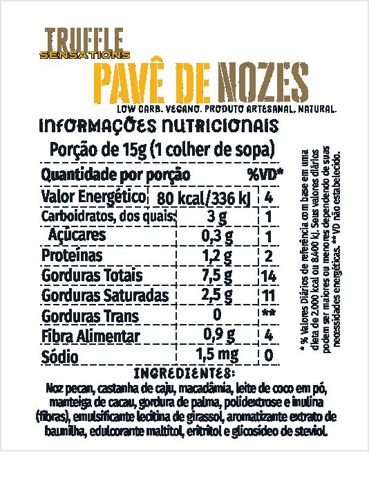 Truffle Pavê de Nozes 200g