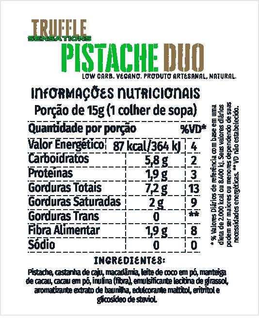 Truffle Pistache Duo 200g