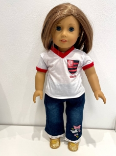 Blusa Flamengo para American Girl ou Our Generation