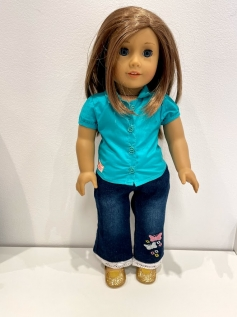 Blusa para American Girl ou Our Generation 0010