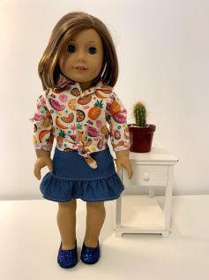 Blusa para American Girl ou Our Generation (0043)