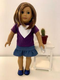 Blusa para American Girl ou Our Generation (0047)