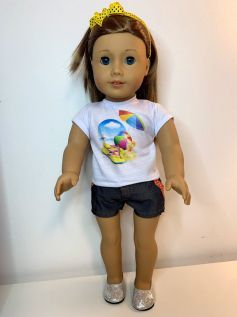 Blusa para American Girl ou Our Generation (0075)