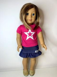 Blusa para American Girl ou Our Generation (0091)