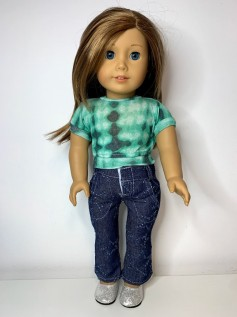 Blusa Tie Dye para American Girl ou Our Generation (0004)