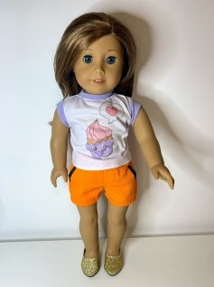 Blusa para American Girl ou Our Generation (0200)