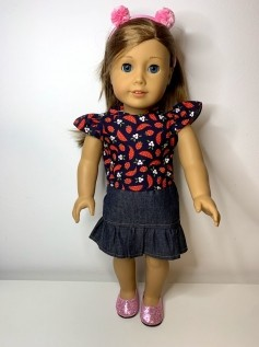Blusa para American Girl ou Our Generation (0202)