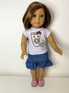 Blusa para American Girl ou Our Generation (0213)