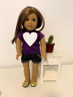 Blusa para American Girl ou Our Generation (0002)