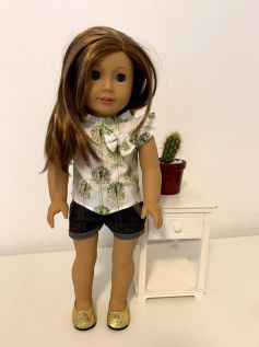 Blusa para American Girl ou Our Generation (0008)