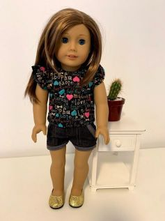 Blusa para American Girl ou Our Generation (0009)