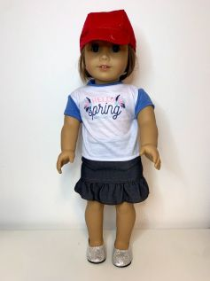 Boné de Palha para American Girl ou Our Generation (0001)