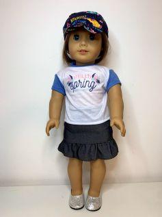 Boné para American Girl ou Our Generation (0004)