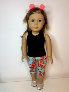 Calça Legging Corsário para American Girl ou Our Generation (0001)