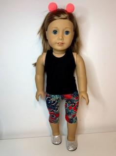 Calça Legging Corsário para American Girl ou Our Generation (0003)