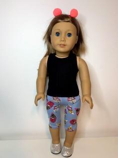 Calça Legging Corsário para American Girl ou Our Generation (0004)
