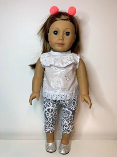 Calça Legging Corsário para American Girl ou Our Generation (0005)