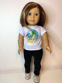 Calça Legging para American Girl ou Our Generation (0011)