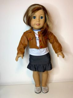 Casaco/Jaqueta para American Girl ou Our Generation (0001)