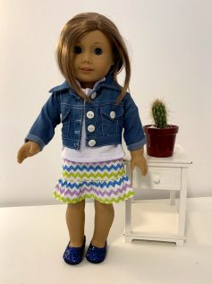 Casaco/Jaqueta para American Girl ou Our Generation (0004)