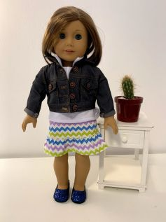 Casaco/Jaqueta para American Girl ou Our Generation (0005)