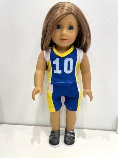 Conjunto de Futebol para American Girl e Our Generation (0004)