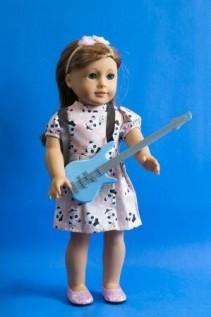 Guitarra Azul para Boneca