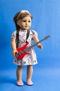 Guitarra Vermelha para Boneca