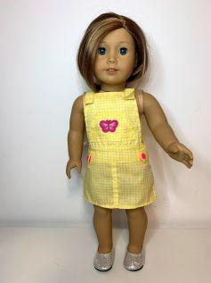 Jardineira Vestido para American Girl ou Our Generation (0003)