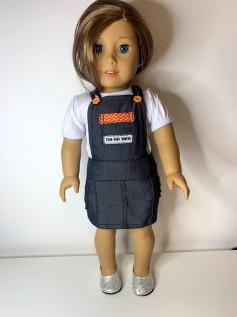 Jardineira Vestido para American Girl ou Our Generation (0005)