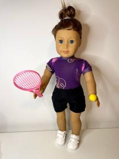 Kit de Jogar Tênis para Boneca