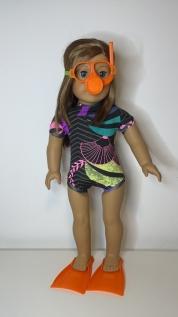 Kit Mergulho para American Girl ou Our Generation
