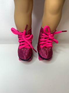 Patins para American Girl e Our Generation Pink Glitter