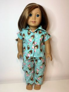 Pijama para American Girl ou Our Generation (0021)