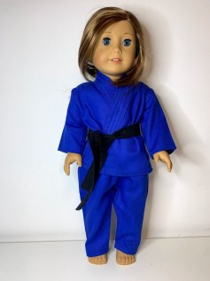 Roupa Judô para American Girl ou Our Generation - Azul