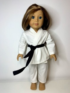 Roupa Judô para American Girl ou Our Generation - Branca