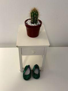 Sapato Verde para American Girl ou Our Generation