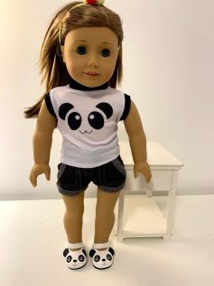 Sapato Panda para American Girl ou Our Generation