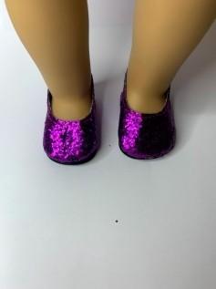 Sapato para American Girl ou Our Generation Roxo