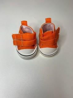 Sapato para Baby Alive - Tênis Laranja Velcro