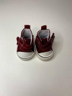 Sapato para Baby Alive - Tênis Vinho Velcro