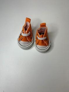Sapato para Baby Alive - Tênis Laranja Cadarço