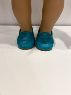 Sapato Salto alto Verde para American Girl ou Our Generation